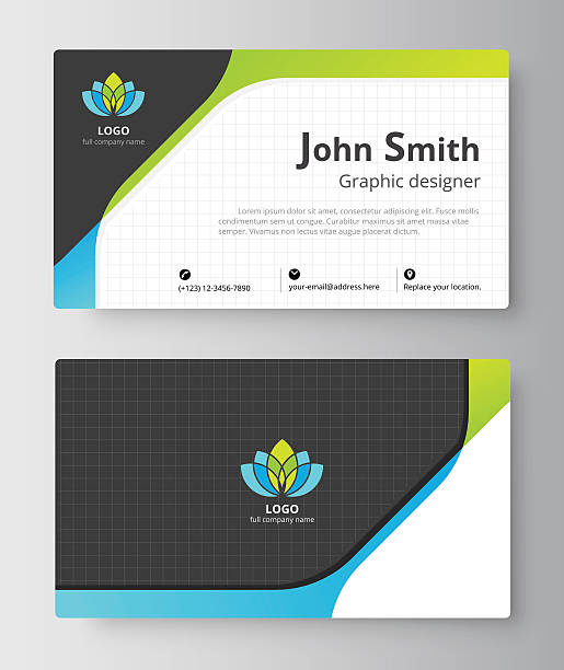 business greeting card template design. - business cv templates stock illustrations