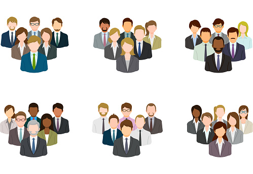 Business group icon set