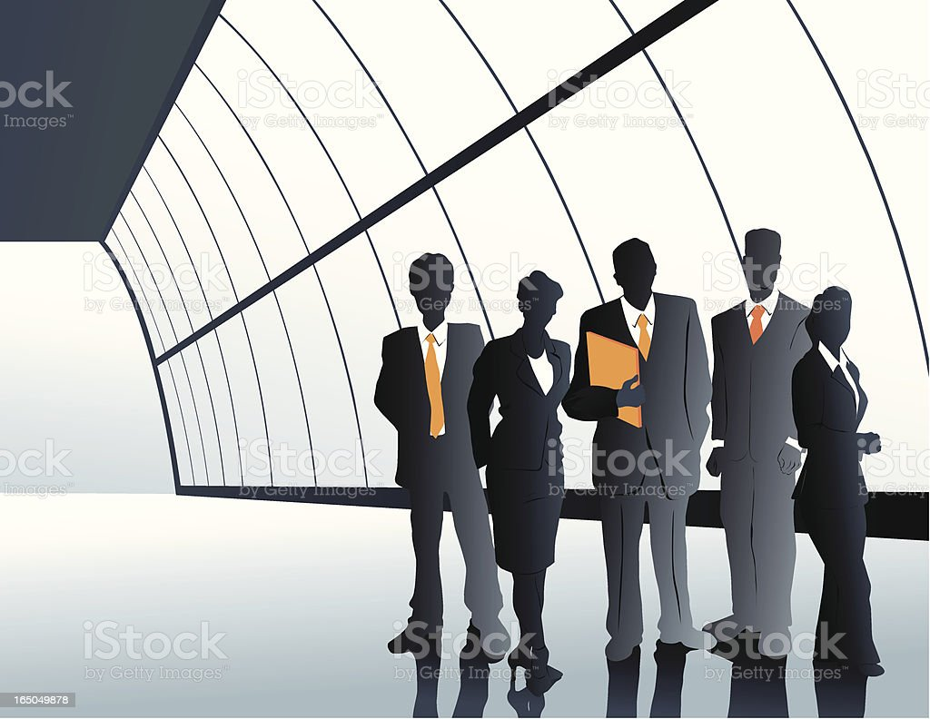 Business Group in Hall royalty-free business group in hall stock vector art & more images of adult