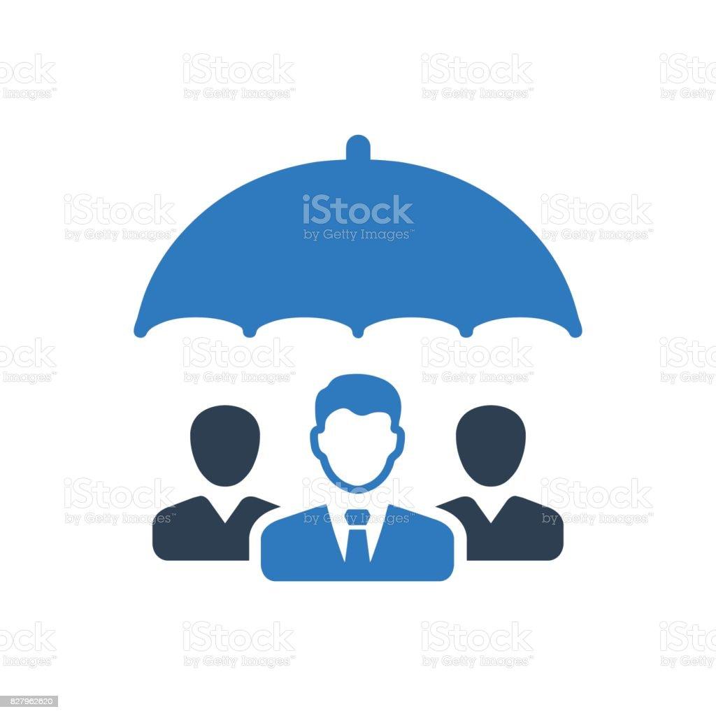 Icône de Protection Business Group - Illustration vectorielle