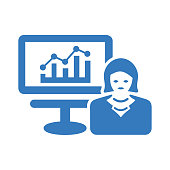 Business, growth, presentation icon. Perfect use for print media, web, stock images, commercial use or any kind of design project.