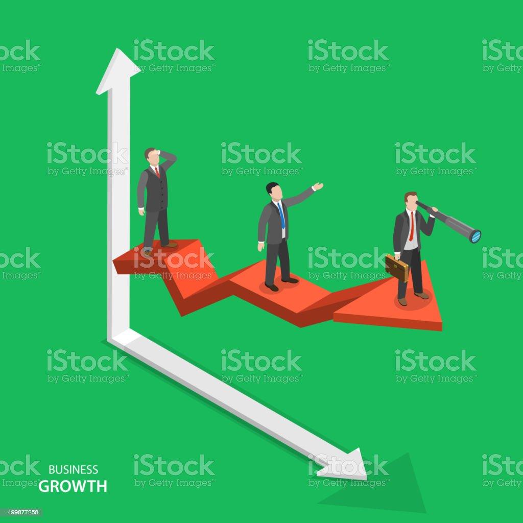 Unternehmenswachstum isometrische Vektor-Konzept. – Vektorgrafik