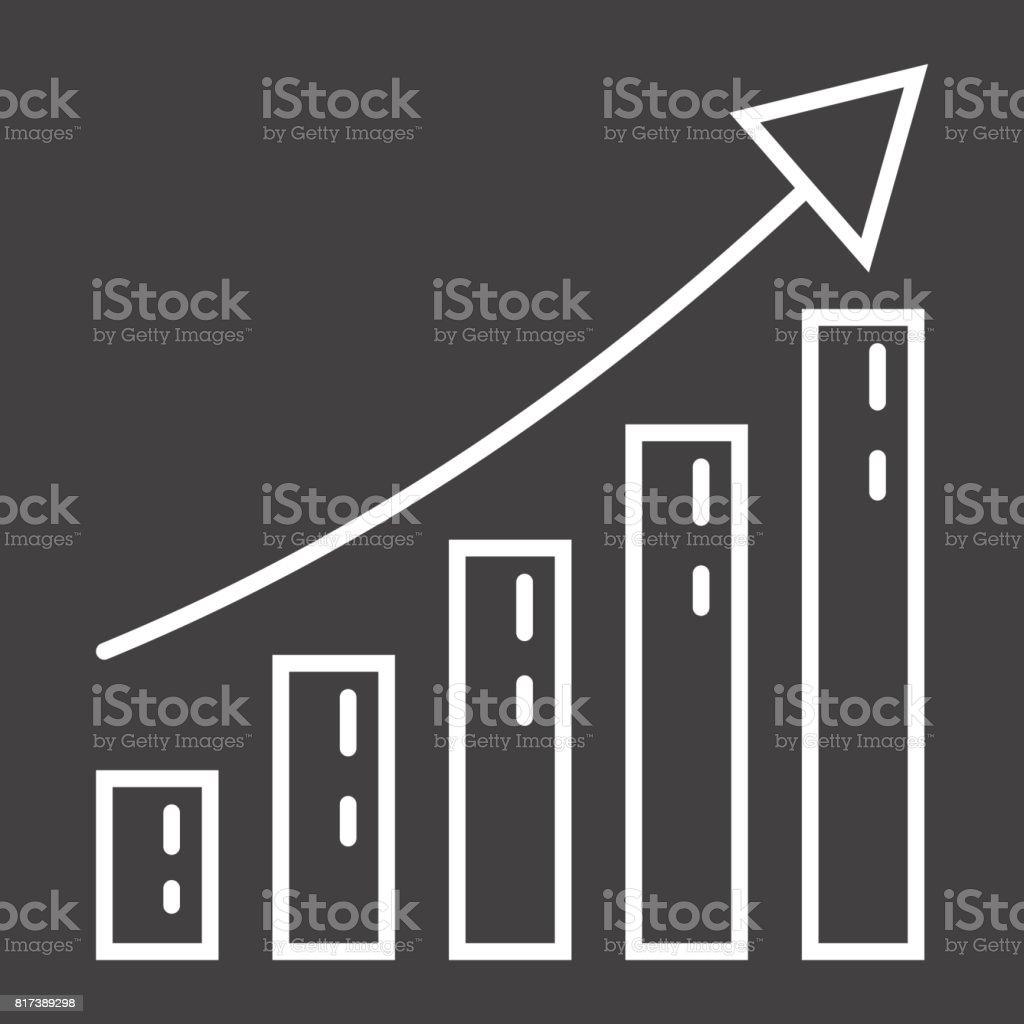Iş Büyüme Satırı Simgesi Iş Dünyası Ve Finans Vektör Grafikleri