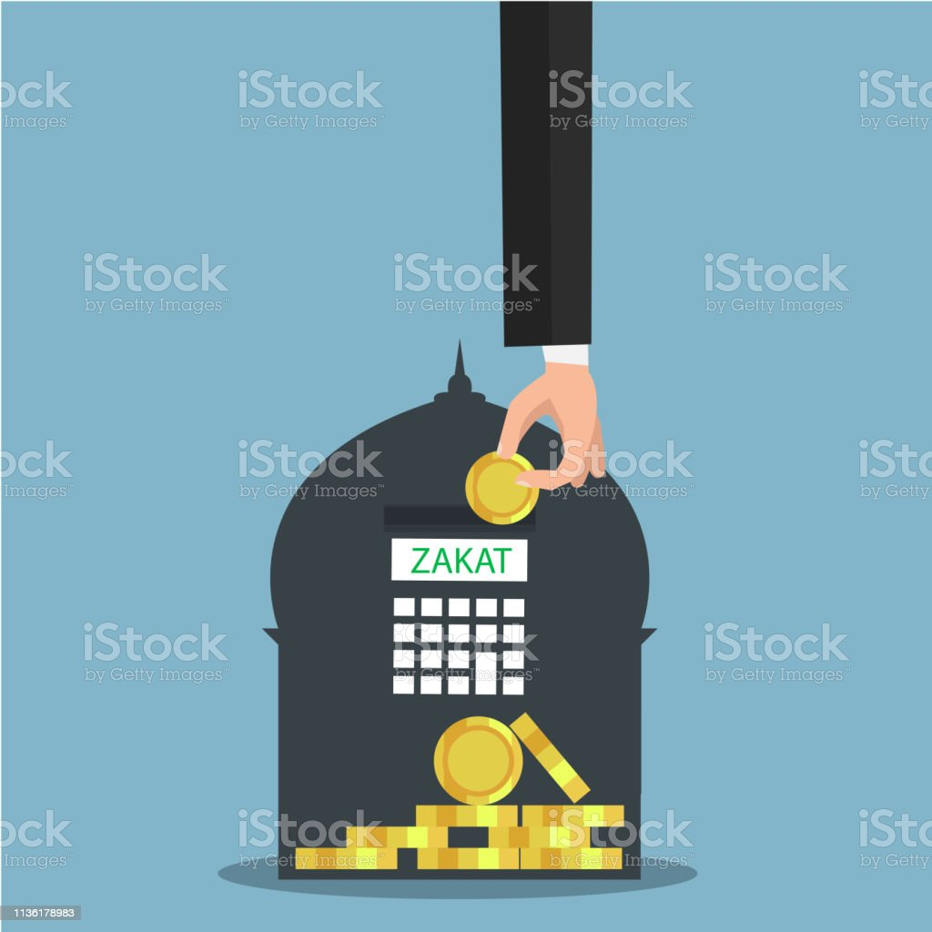business hand donation to zakat on mosque background stock illustration download image now istock business hand donation to zakat on mosque background stock illustration download image now istock