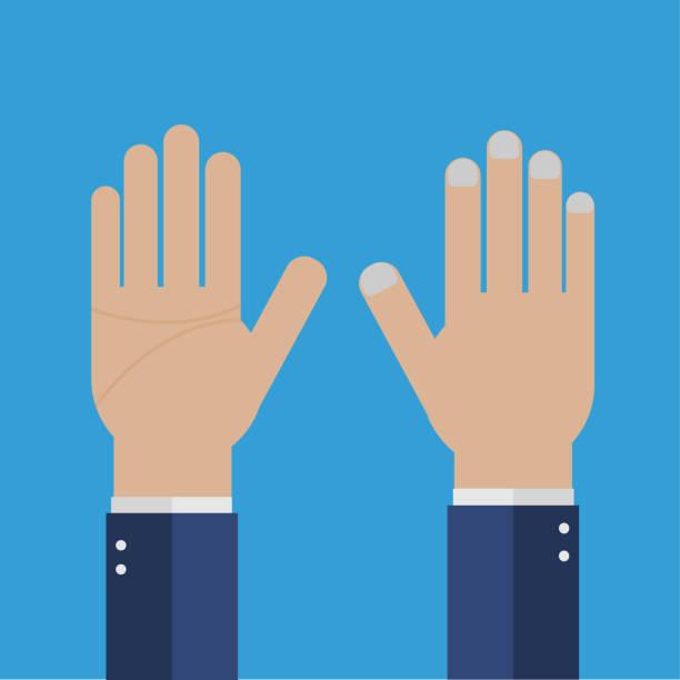 Geschäftsmann Hand mit fünf Fingern zwei hand – Vektorgrafik