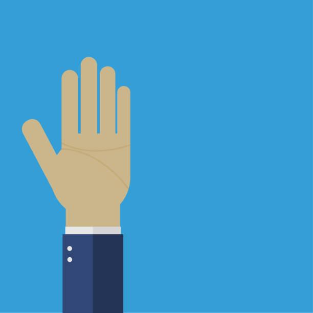 Geschäftsmann Hand mit fünf Fingern – Vektorgrafik