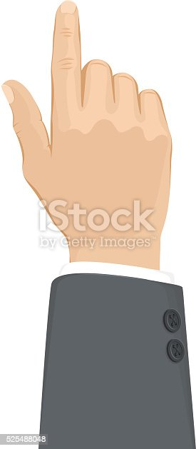 Vector illustration business hand that touches.