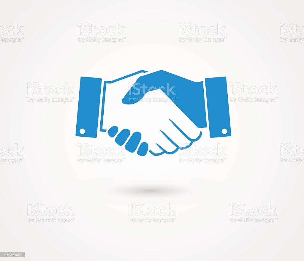 business handshake contract agreement line art icon for apps の