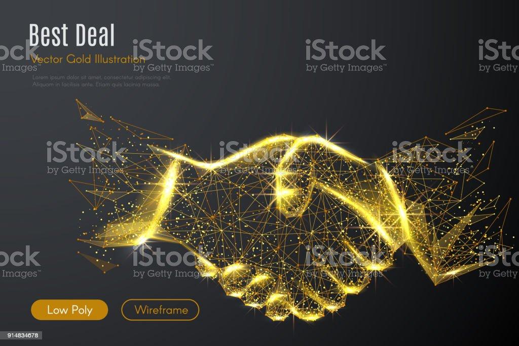 ビジネス ハンドシェイク低ポリ ゴールド ロイヤリティフリービジネス ハンドシェイク低ポリ ゴールド - 3dのベクターアート素材や画像を多数ご用意