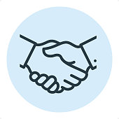 Business Handshake - Pixel Perfect Single Line Icon