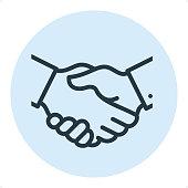 Business Handshake - Pixel Perfect Single Line Icon