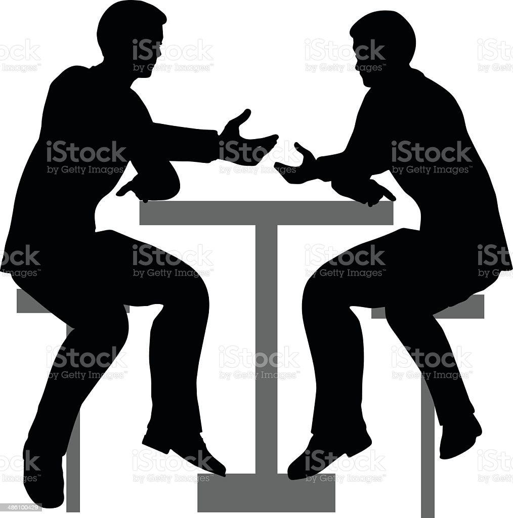 ビジネスシーンでの握手シルエット のイラスト素材 486100429 | istock