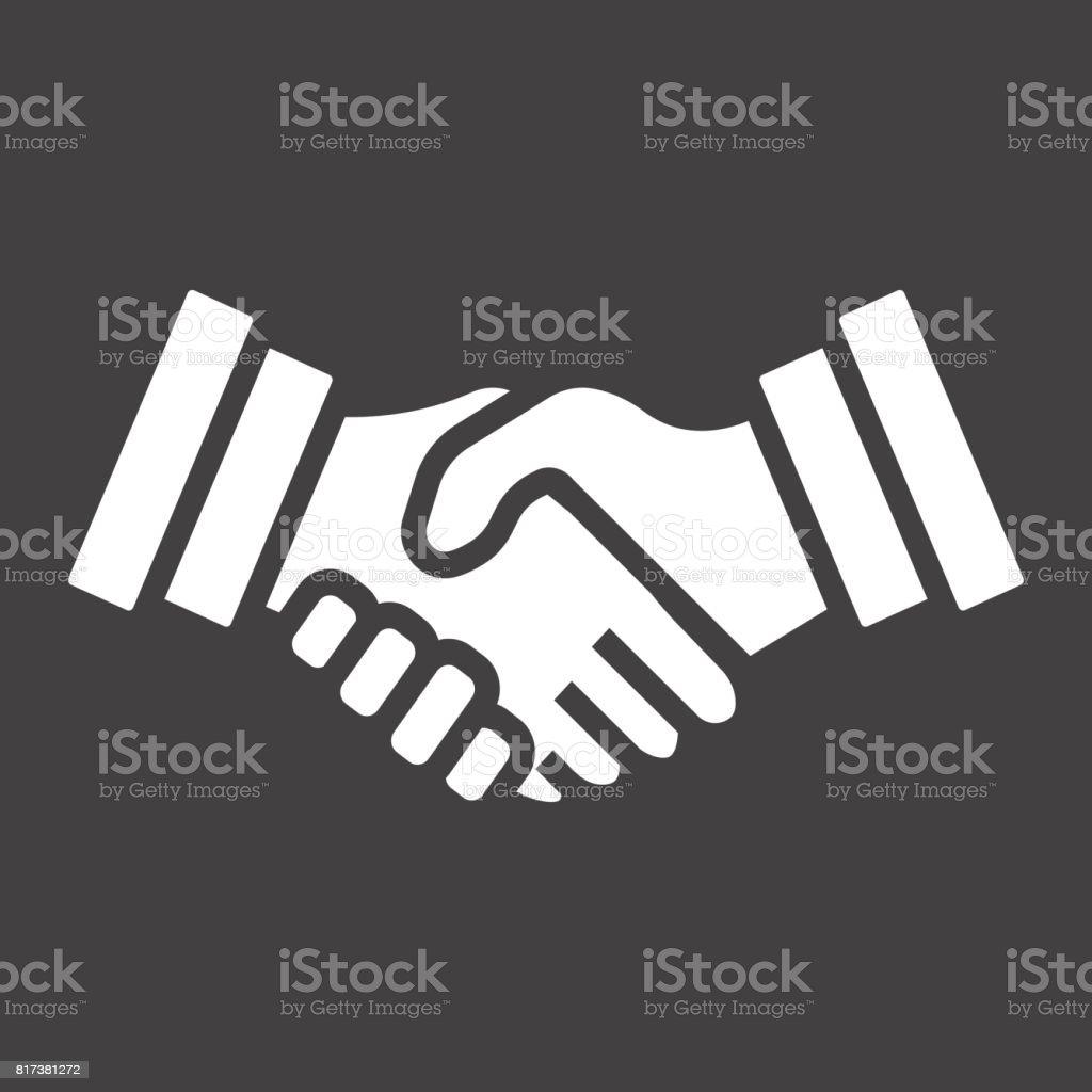 Business Handshake Solide Symbol Vertrag Und Vereinbarung