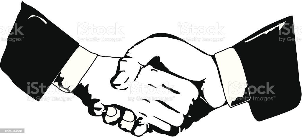 Business handshake (VECTOR) royalty-free stock vector art