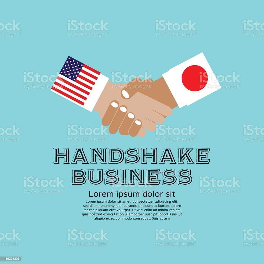 Business Handshake. royalty-free stock vector art