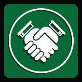 Business handshake icon, vector illustration