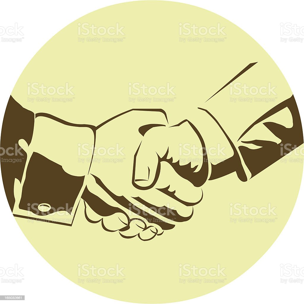 Business Handshake - Vector royalty-free stock vector art
