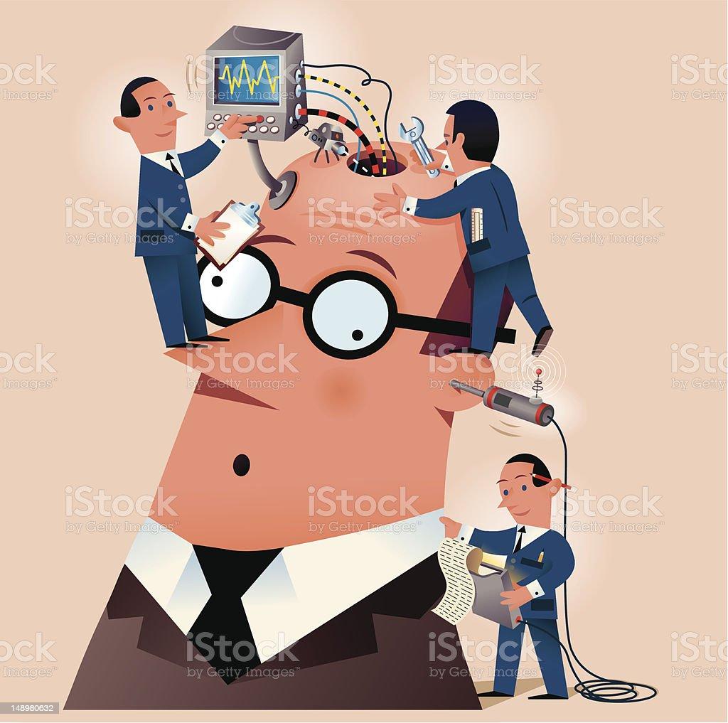 Business heads vector art illustration
