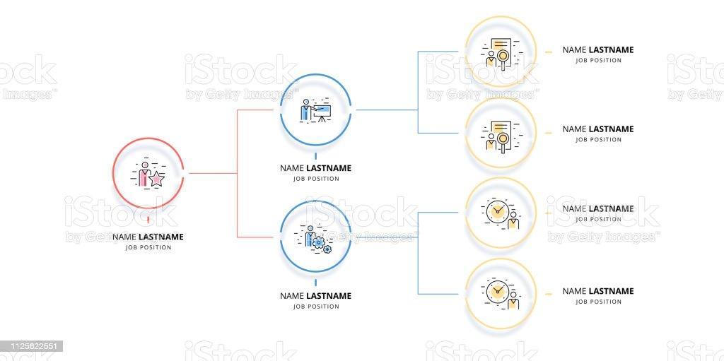 Ilustración De Jerarquía De Negocio Organigrama Gráfico