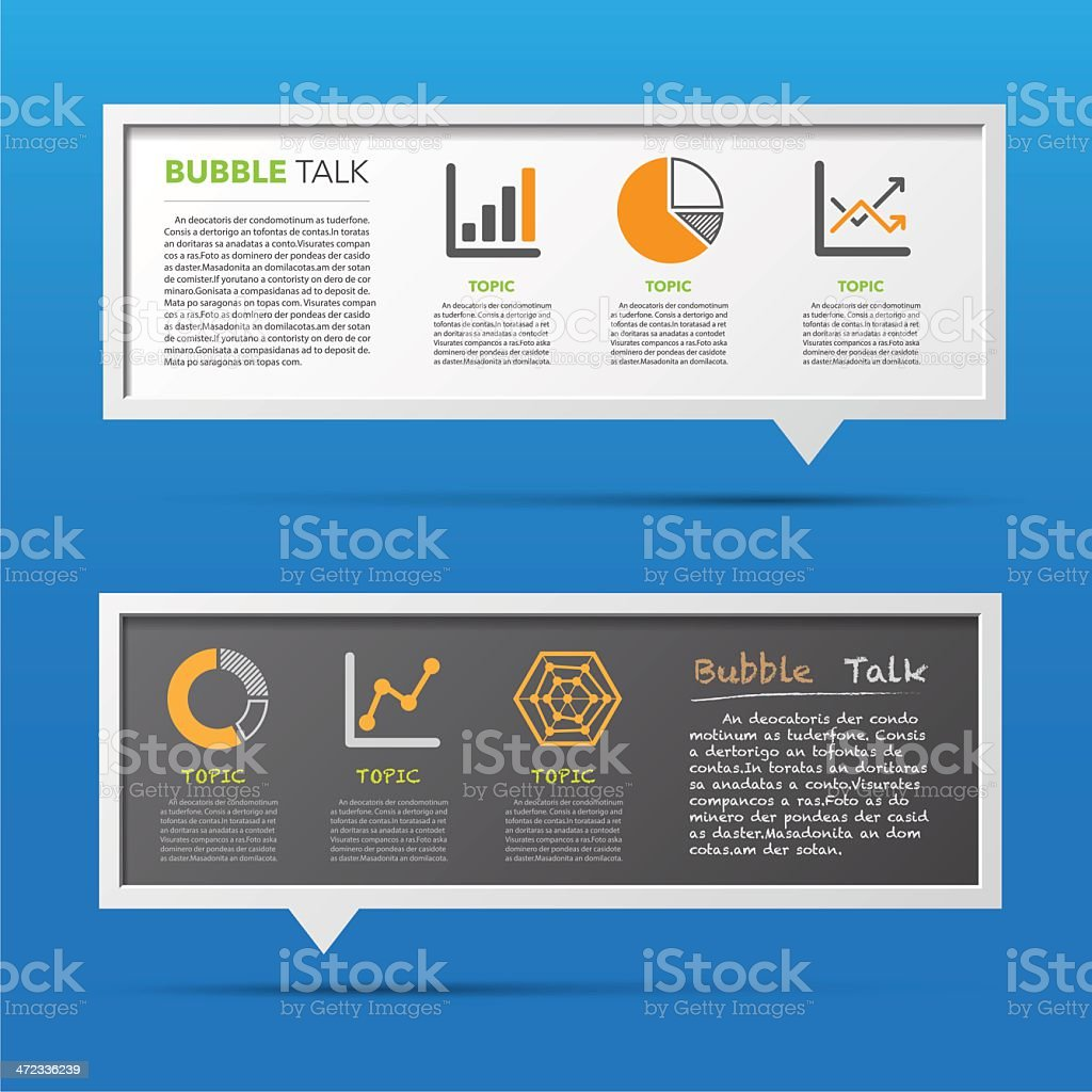 Business icon and 3D bubble talk blackboard. royalty-free stock vector art