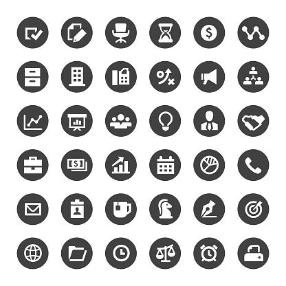 Business Icon - Big Circle Series