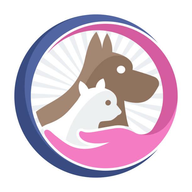 bildbanksillustrationer, clip art samt tecknat material och ikoner med business ikon ikon för djuraffär / sällskapsdjur bekymmer - djursjukhus