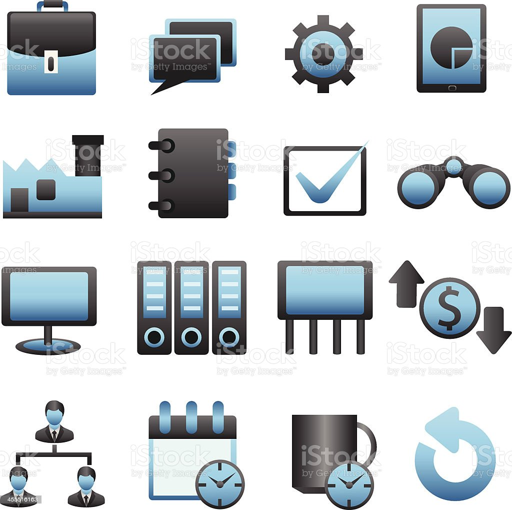 Business Icon Set 03 royalty-free stock vector art