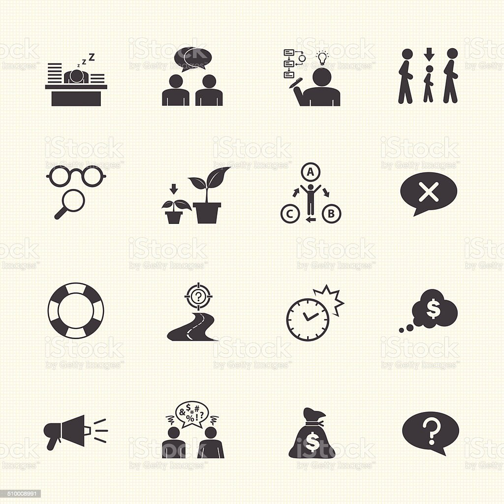 Business icon set, Personality traits vector art illustration