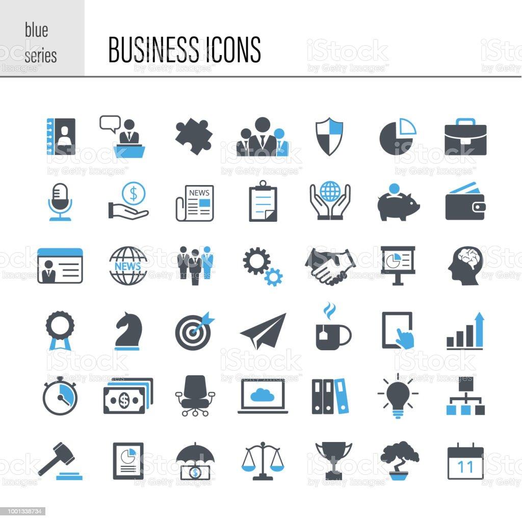 Ensemble d'icônes d'affaires - Illustration vectorielle