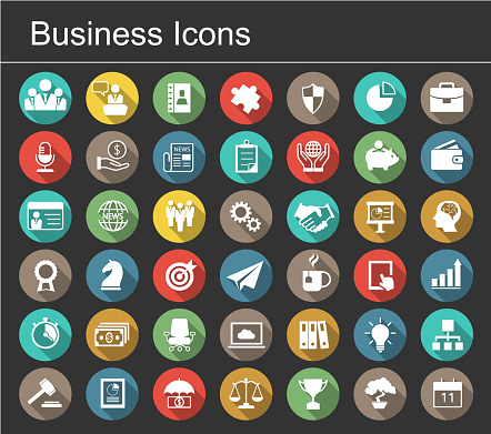 Business icon set clipart
