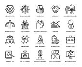 Business Icon Set - Thin Line Series
