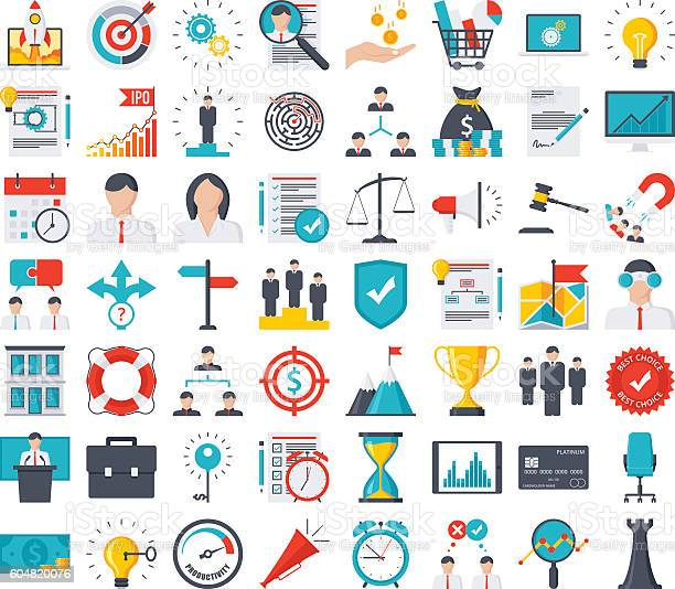 Business Icon Set Stock Illustration - Download Image Now