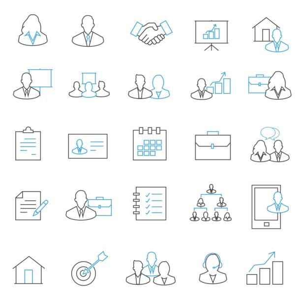 ビジネスアイコンセット  - トレーニングのカレンダー点のイラスト素材/クリップアート素材/マンガ素材/アイコン素材