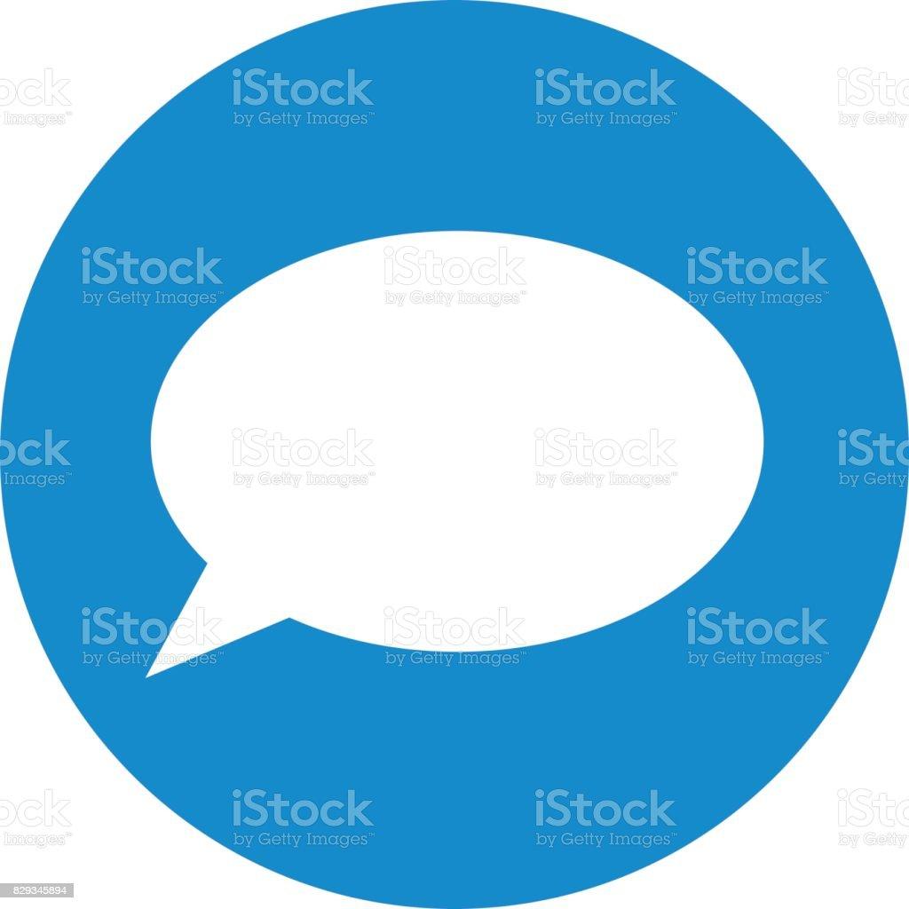 Business icon. Vector illustration isolated on white background. Speech bubble symbol. vector art illustration