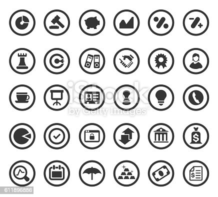 Vector illustration of Business Icons and Finance Icons