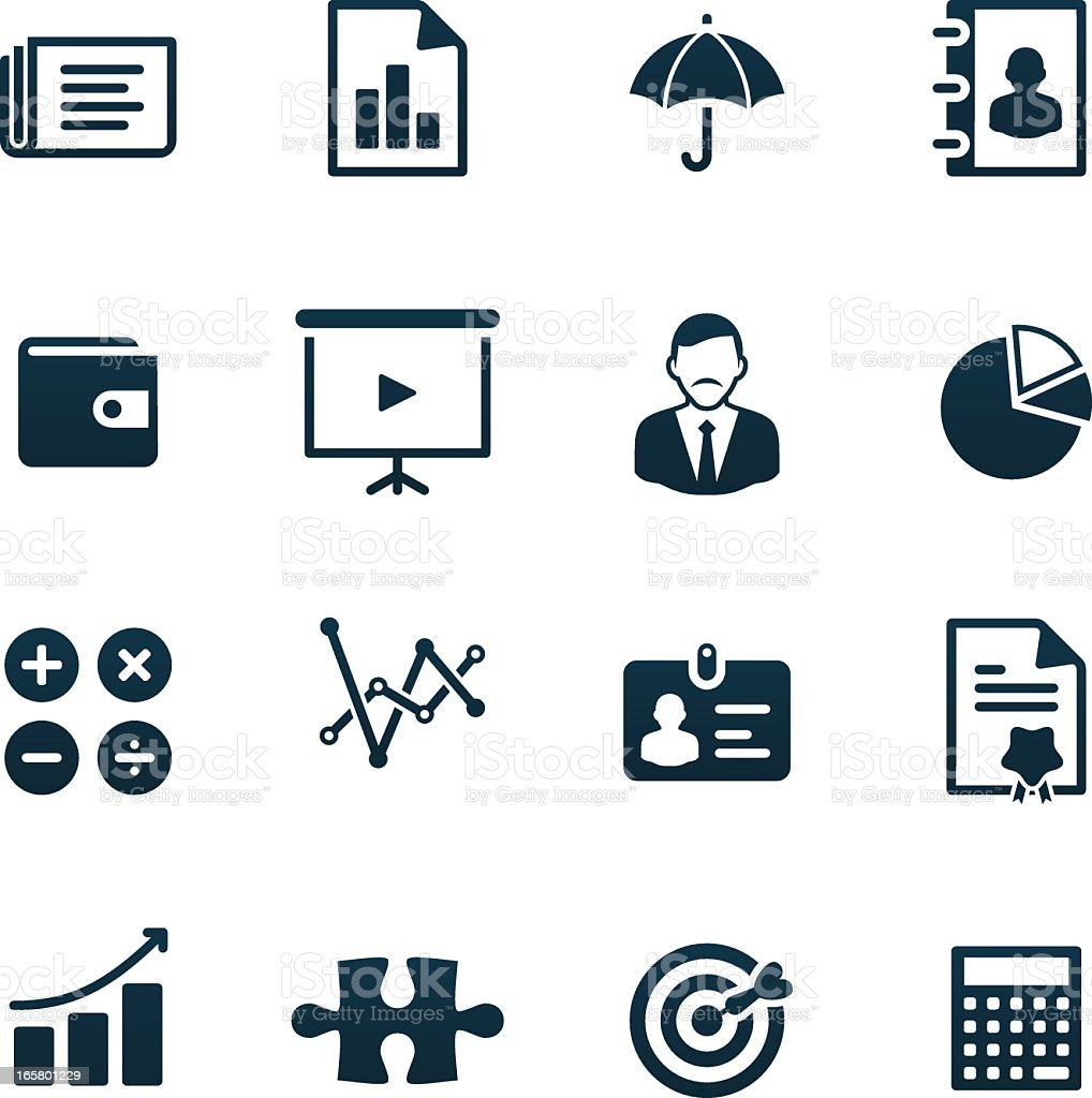 Business Icons   black series vector art illustration