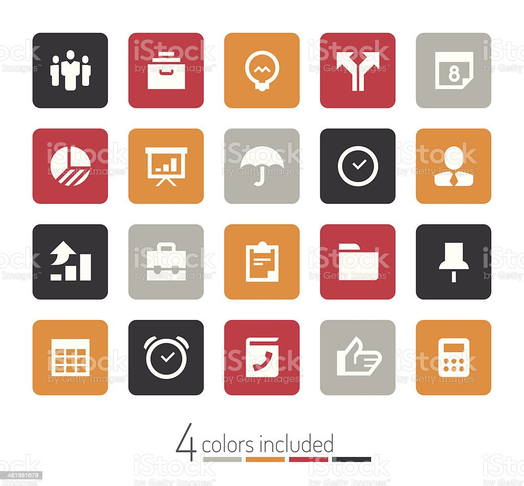 Business icons   echo series royalty-free stock vector art