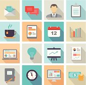 Business Icons Flat Design
