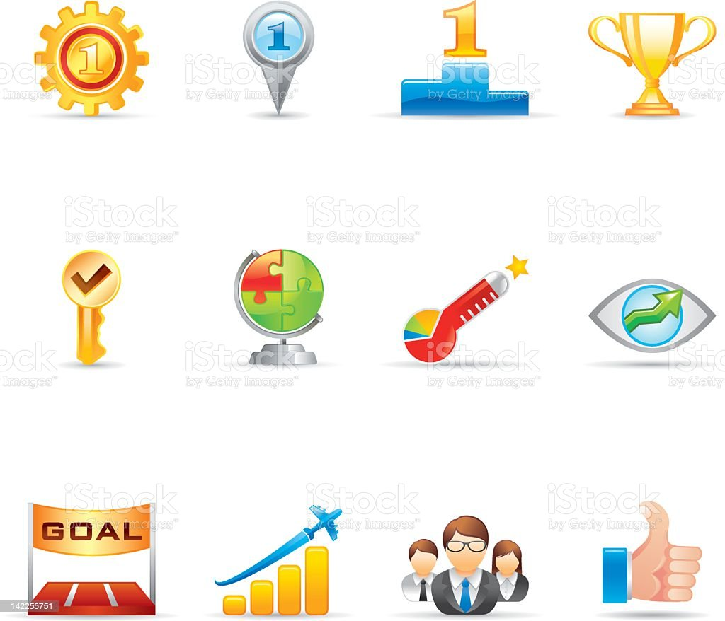 Business Icons | Gradient Series royalty-free business icons gradient series stock vector art & more images of award