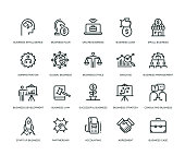 Business Icons - Line Series