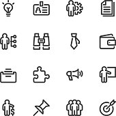 Business icons - Line