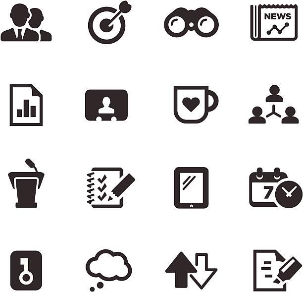 ビジネスアイコン/モノシリーズ - トレーニングのカレンダー点のイラスト素材/クリップアート素材/マンガ素材/アイコン素材