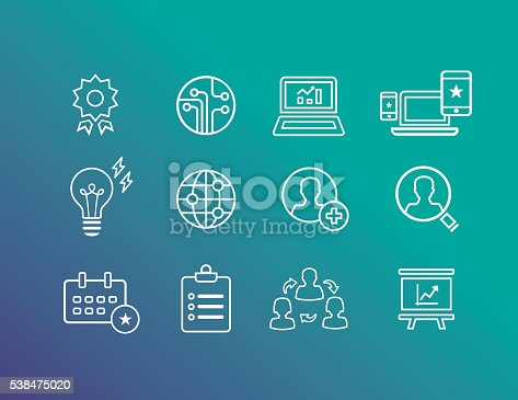 Icons for strategically marketing and analysis