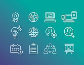 Business Icons Outline