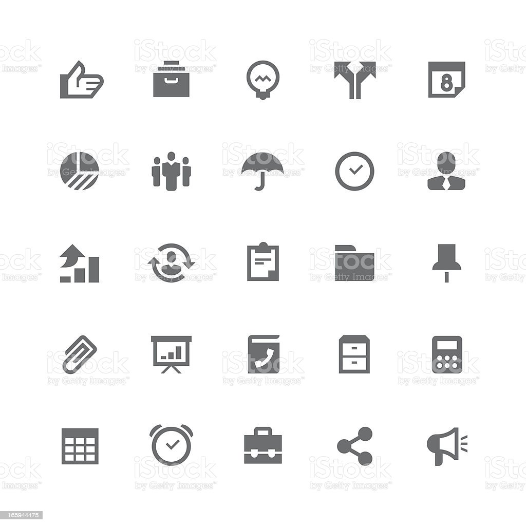 Business icons   retina series royalty-free stock vector art