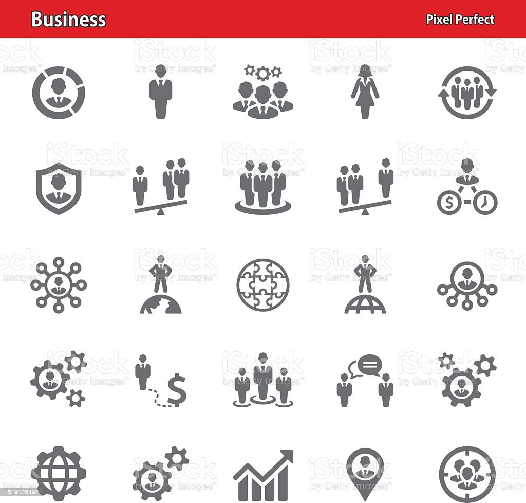Business Icons - Set 1 vector art illustration