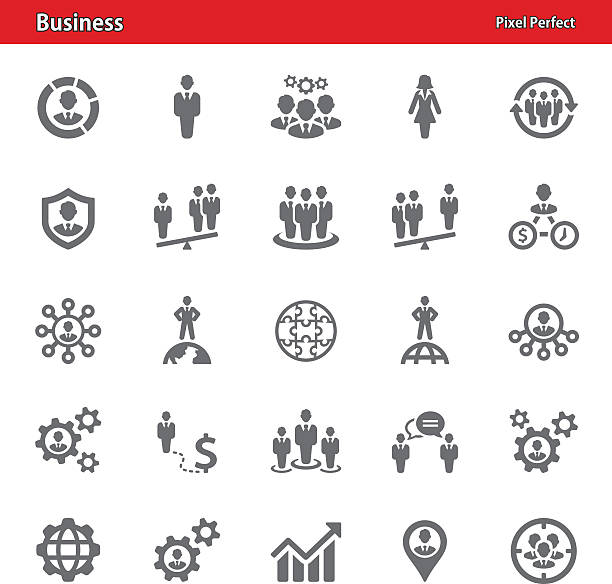 Business Icons - Set 1 Professional, pixel perfect icons depicting various business concepts (optimized for both large and small resolutions). time is money stock illustrations