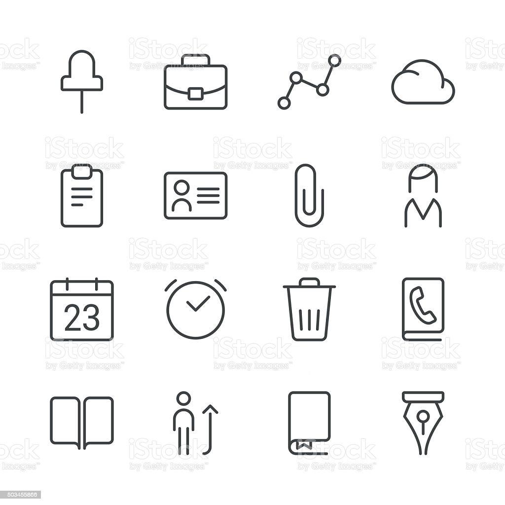 Icônes d'affaires set 2-série Black Line - Illustration vectorielle