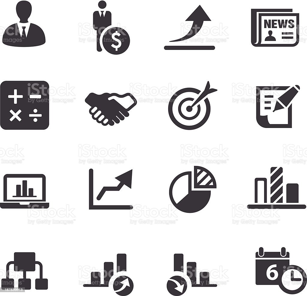 Business Icons Set 2-Acme Series royalty-free business icons set 2acme series stock vector art & more images of agreement