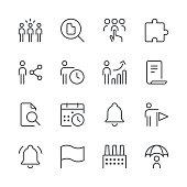 Business icons set 4 | Black Line series
